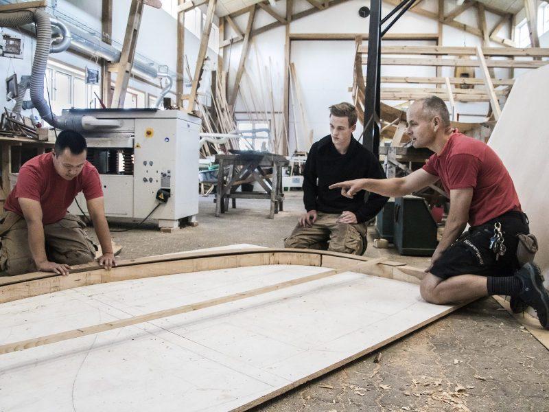 Rune, Robin og Christian laver spanter til Kanonbåd